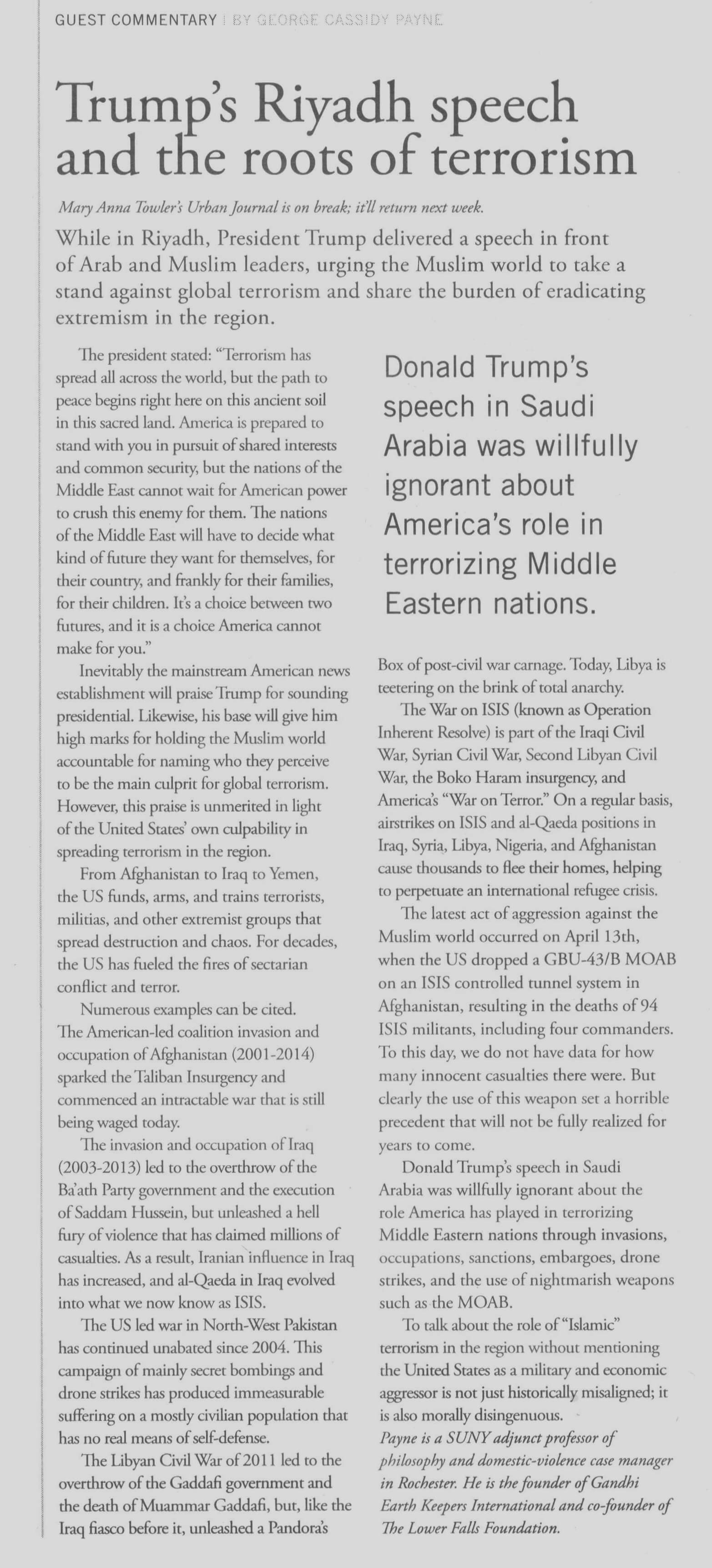 Essays on terrorism international