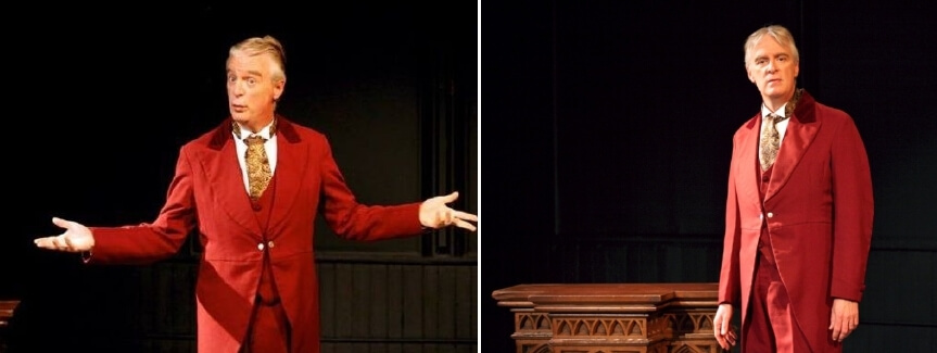 """PHOTOS BY ANNETTE DRAGON - Peter Doyle performs as Oscar Wilde in the one-man play """"Diversions and Delights"""" at MuCCC."""