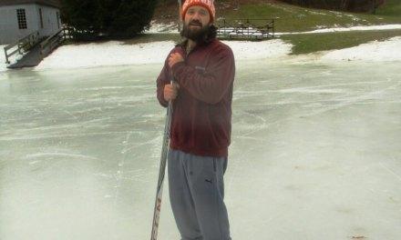 Lily Pond, Highland Park's hidden ice hockey rink.