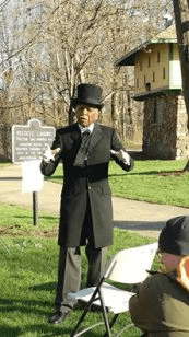 Dr. David Anderson performing as Frederick Douglass at Kelsey's Landing