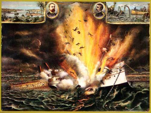 The destruction of the USS Maine, February 15, 1898