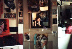 Josue's room at Spanish House, Brown University, with Sarah Lum, 1985