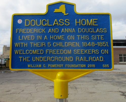 Site of the former Douglass home on 297 Alexander Street [Photo: David Kramer]