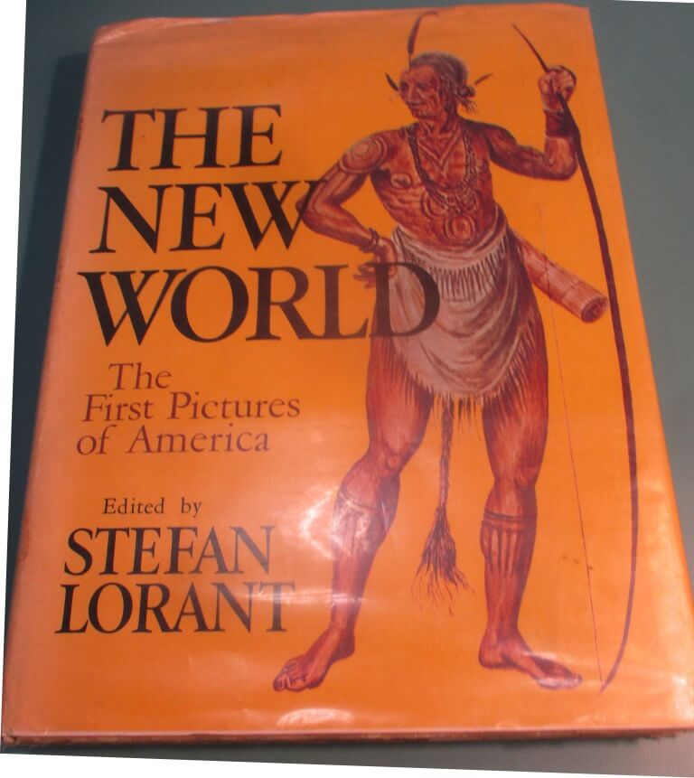 The New World: The First Pictures America (1965), Ed. Stefen Lorrant. After seeing the book, librarian Katie Lambert may revisit its inclusion in the collection. First published in 1946, the book may represent history in ways now considered inaccurate and outdated.