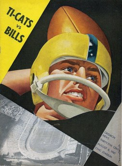 CFL Game Program, Buffalo at Hamilton, August 8th, 1961