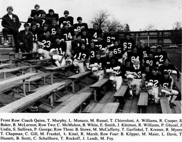1979 JV BHS football. Crossroads.