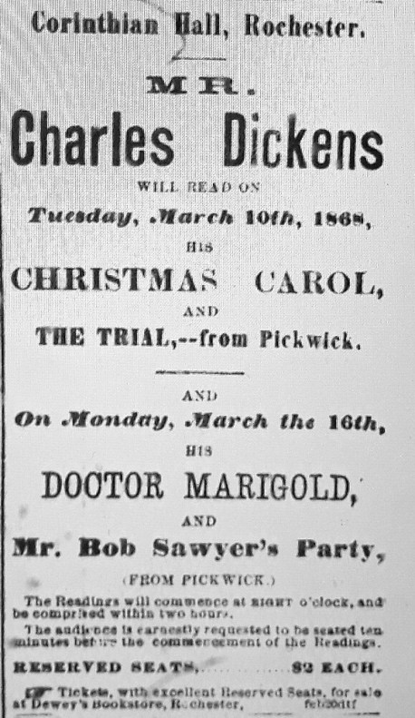 Rochester Democrat advertisment March 8, 1868