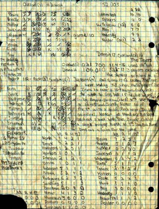 The only extant shard from the Ghyzel-Kramer games. See Opening Day, 1971, at Boldo's Armory