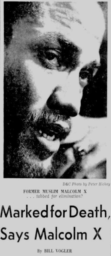 Caption: Democrat and Chronicle, 2/22/65. From 51 years ago when Malcolm X was assassinated 5 days after his prophecy in Rochester. And his Speech to Mississippi Youth