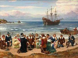 3. Pilgrims Landing at Plymouth Rock