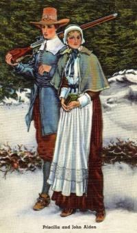 7. John and Priscilla Alden