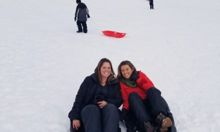 Eric Kemperman, Brighton High School '81, is back in town and sledding!
