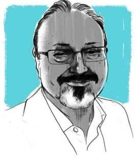 Jamal Khashoggi. Illustration by Alex Fine for The Washington Post From Trump Does Not Care Who Killed Jamal Khashoggi
