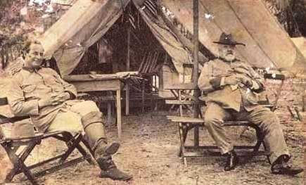 Colonel William Jennings Bryan and Major General Fitzhugh Lee, Camp Cuba Libre