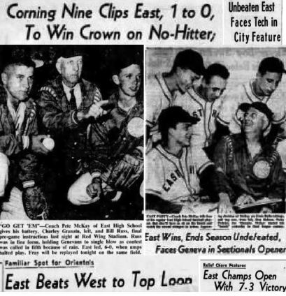 Coverage of East from the Democrat and Chronicle, May/June 1952