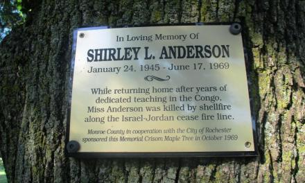 At Cobb's Hill, a tree, a plaque and fifty years after the death of Shirley Louise Anderson