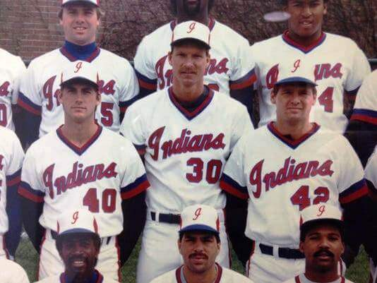 Randy Johnson (30) in a portrait with the 1988 Indianapolis Indians (Photo: Indianapolis Indians)