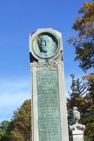 The grandfather of the internet is buried in Mt. Hope Cemetery