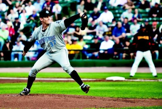 Syracuse Chiefs star pitcher Stephen Strasburg dazzled a sell-out crowd at Frontier Field on Wednesday night.(Kevin Fuller)
