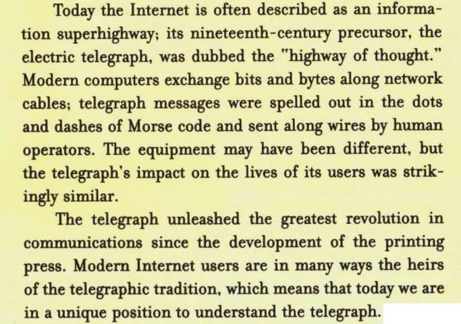 From The Victorian Internet, VIII   Preface