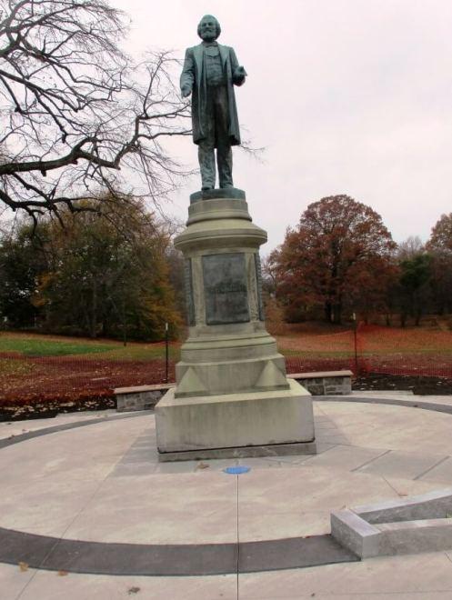 Douglass Monument , corner of South Avenue and Robinson Drive. [Photo: David Kramer, 11/09/19]