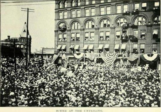 The June 9th, 1898 unveiling from From An Authentic History of the Douglass Monument (1903)