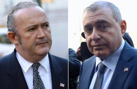 Igor Fruman, left, and Lev Parnas are seen leaving the Daniel Patrick Moynihan Courthouse on Wednesday, October 23 in New York. Fruman and his co-defendant Lev Parnas, both associates of Rudy Giuliani, are charged in a campaign finance scheme. Igor Fruman, left, and Lev Parnas are seen leaving the Daniel Patrick Moynihan Courthouse on Wednesday, October 23 in New York. Fruman and his co-defendant Lev Parnas, both associates of Rudy Giuliani, are charged in a campaign finance scheme. (Alec Tabak/for New York Daily News)