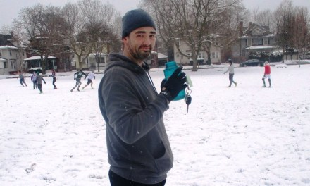 What's a little snow at the Cobb's Hill ultimate frisbee game