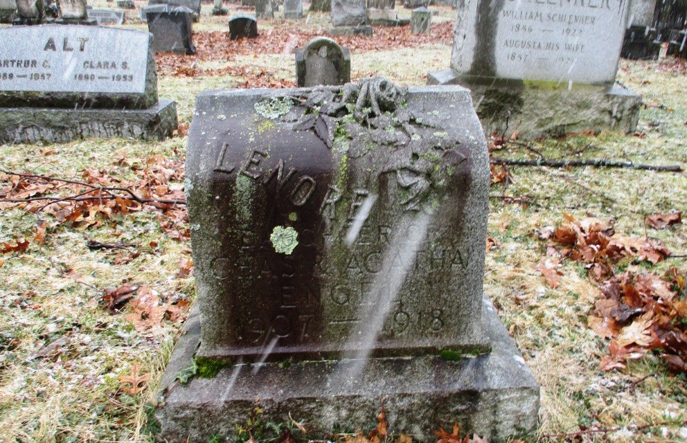 Dr. Joseph Roby could not save Lenore Engel, 11, victim of the 1918 pandemic buried in Mt. Hope Cemetery