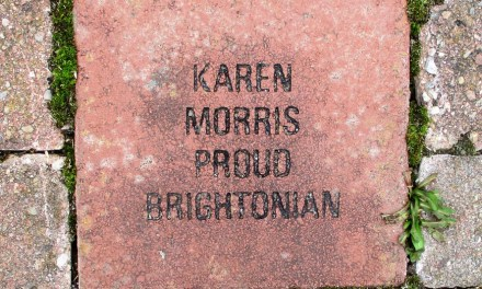 The inscribed brick pavers at Buckland Park in Brighton