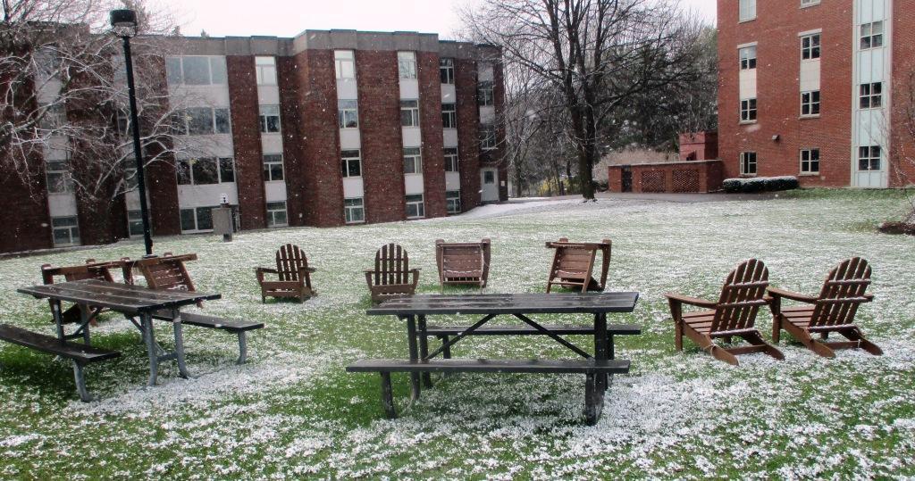 An eerie quiet at Nazareth College
