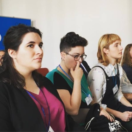 RYCO Symposium, youth international jury : Clémence, Jelena (Serbia) and Smirna (BiH)
