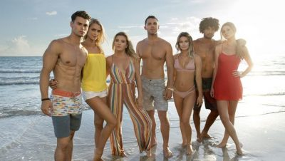 (Left to right Garrett, Kelsey, Chloe, Alex, Julliette, Brandon, Madisson on 'Siesta Key'. MTV