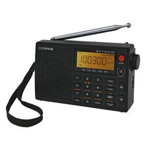 Radio de voyage portable C Crane CC Skywave AM, FM, ondes courtes, météo et bande aérienne avec horloge et alarme