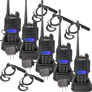 Retevis RT6 Two Way Radios Waterproof 128 CH 5W VHF UHF Dual Band