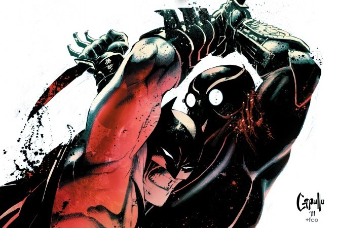 Detalhe da capa de Batman#3 (2011), por Greg Capullo.