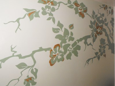 Hand-painted mural in counselling room