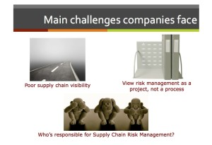 Supply Chain Risk Management Challenges Companies Face (Source: Adelante SCM)