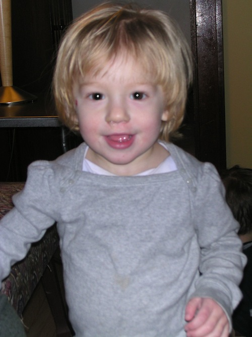 Tabitha at 21 months (a bit OLDER than the subjects in the beginning of the study)