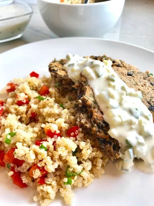 Garbanzo & Black Bean Cakes Quinoa Best Table vert