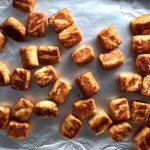 Baked Cauliflower Tater Tots on baking sheet