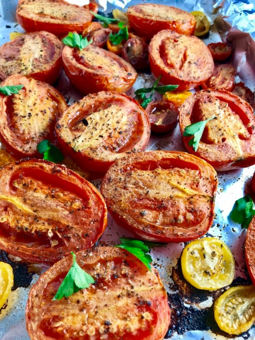Roasted Tomatoes cooked CU parsley