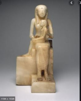 """""""Statue of Queen Ankhnes-meryre II and Her Son, Pepy II"""" (ca. 2288-2224 or 2194 B.C.E.)"""
