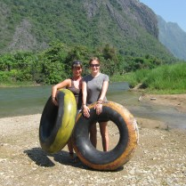 Me and Triona, Laos, 2008