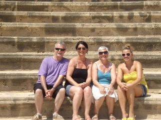 Dad, Me, Mum and Alison, Cyprus, 2012