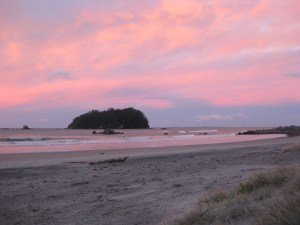Sunset in Mount Maunganui
