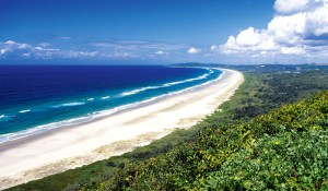 Byron Bay Beach- Source: http://www.australiantraveller.com/byron-bay/byron-bay-accommodation/