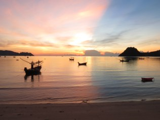 Sunrise in Prachuap Khiri Khan