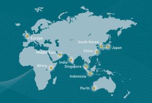 Perth on World Map