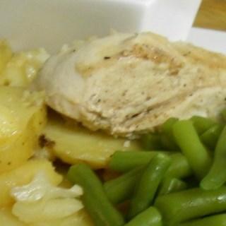 Gebraden Kip met Aardappelen